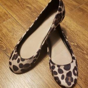 Mix No 6 Fuzzy Leopard Print Flats